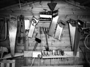 Holz Werkzeug in der Werkstatt
